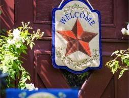 Welcome Star Door Decor